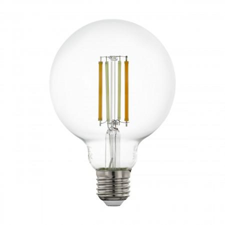 Bombilla E27 Globo LED Filamento transparente Smart Wifi TW 6W 95mm