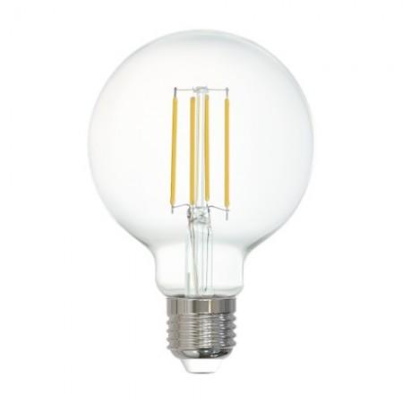 Bombilla E27 Globo LED Filamento transparente Smart Wifi 6W 80mm