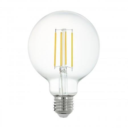 Bombilla E27 Globo LED Filamento transparente Smart Wifi 6W 95mm