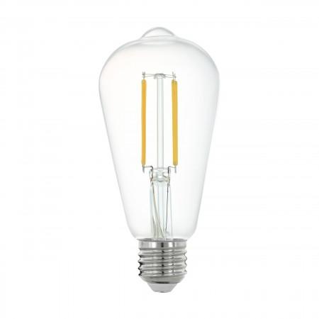 Bombilla E27 Pera LED Filamento transparente Smart Wifi 6W 64mm
