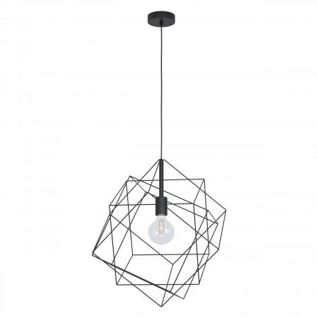 Lámpara Colgante Eglo Straiton Negro Cubo grande