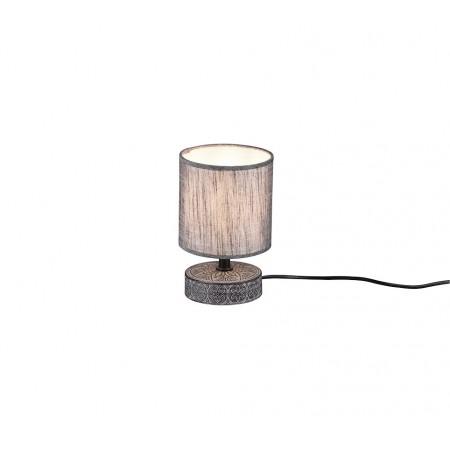 Lámpara de Sobremesa Trio Marie Gris 1 Bombilla E14 14cm