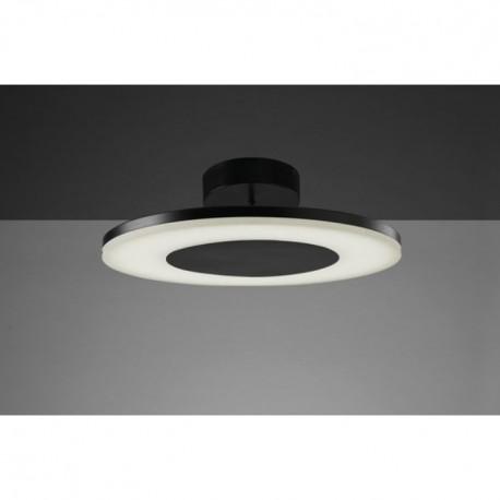 Lámpara Plafón de Techo Discóbolo Negro Led 48cm