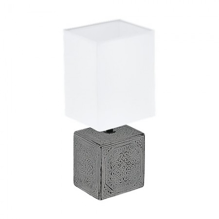 Lámpara de Sobremesa Eglo Mataro 1 Gris 1 Bombilla E14