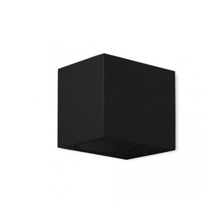 Aplique de Pared Exterior Mantra Kandanchu Negro Cuadrado 1 Luz
