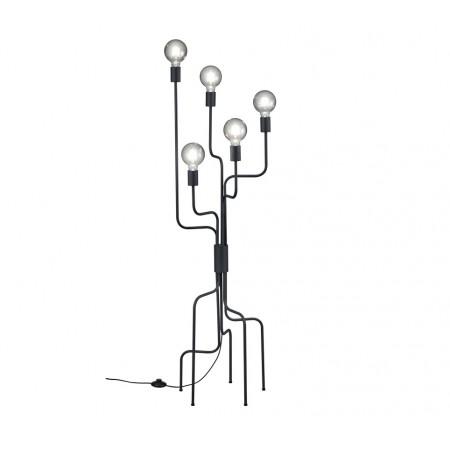 Lámpara de Pie Led Trio Connor Negro 5xE27