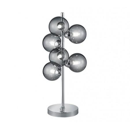 Lámpara de Sobremesa Trio Alicia Cromo Humo 6 Bombillas G9