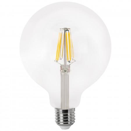 Bombilla LED Globo con Filamento Transparente 8W E27 12cm Cálida