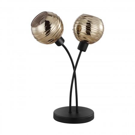 Lámpara de Sobremesa Eglo Creppo Vidrio Fumé 2xE27