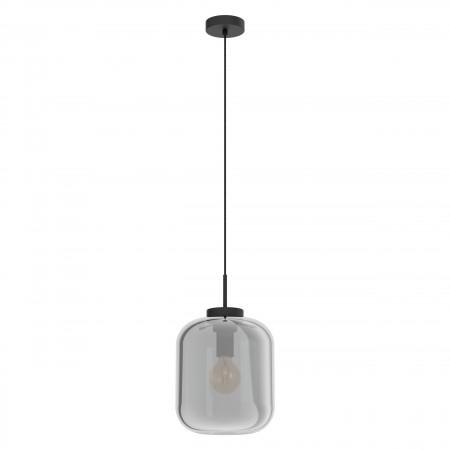 Lámpara Colgante Eglo Bulciago Negro Transparente 25cm