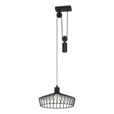 Lámpara Colgante Eglo Winkworth Negro LED E27