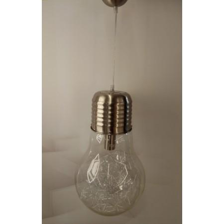Lámpara Colgante Cristal Bulb Níquel Mate LED E27