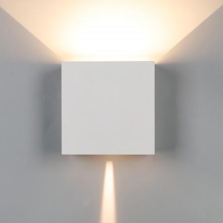 Aplique de Pared Exterior LED Mantra Davos XL Blanco Cuadrado 3000k 20W