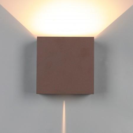 Aplique de Pared Exterior LED Mantra Davos XL Marrón Cuadrado 3000k 20W