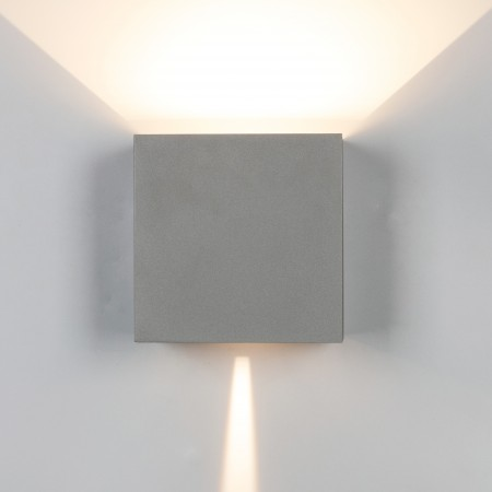 Aplique de Pared Exterior LED Mantra Davos XL Gris Cuadrado 3000k 20W