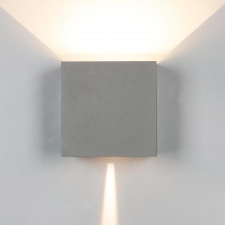 Aplique de Pared Exterior LED Mantra Davos XL Gris Cuadrado 3000k 20W