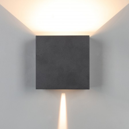 Aplique de Pared Exterior LED Mantra Davos XL Negro Cuadrado 3000k 20W