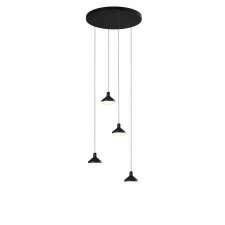 Lámpara Colgante Circular LED Mantra Antares negro 32W 3000k