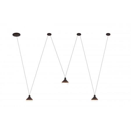 Lámpara Colgante LED Mantra Antares negro 3 Luces 24W 3000k
