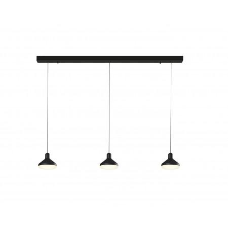 Lámpara Colgante Lineal LED Mantra Antares negro 3 Luces 24W 3000k