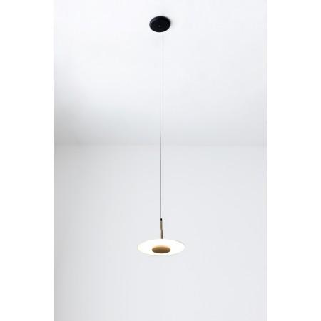 Lámpara Colgante LED Mantra Orion negro/cuero 1 Luz 8W 3000k
