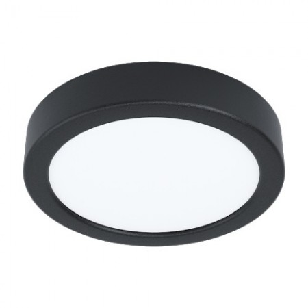 Downlight Superficie LED Eglo Fueva 5 Redondo Negro Luz Neutra 10.5W