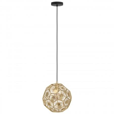 Lámpara Colgante Eglo Skoura negro y latón 30cm