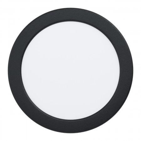 Downlight Empotrar LED Eglo Fueva 5 IP44 Redondo Negro 10.5w luz Cálida
