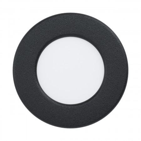 Downlight Empotrar LED Eglo Fueva 5 IP44 Redondo Negro 2.7w luz Cálida