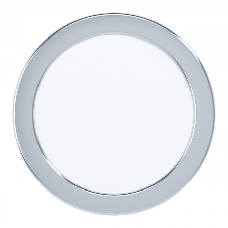 Downlight Empotrar LED Eglo Fueva 5 IP44 Redondo Cromo 10.5w luz Cálida