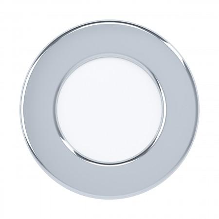 Downlight Empotrar LED Eglo Fueva 5 IP44 Redondo Cromo 2.7w luz Cálida