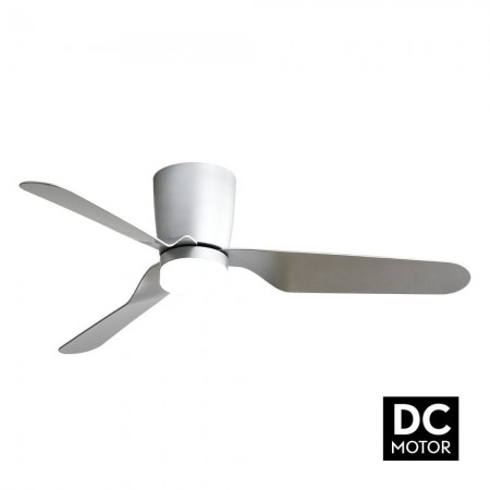 Ventilador de Techo Fabrilamp Kochi Motor DC Níquel/Plata 18W 2350lm
