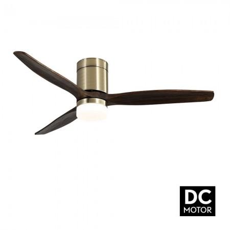 Ventilador de Techo Fabrilamp Aguilon Motor DC Cuero/Roble 18W 2350lm