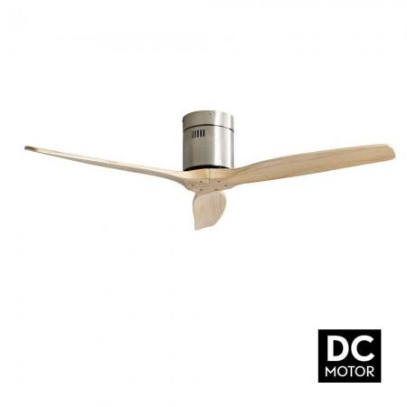 Ventilador de Techo Fabrilamp Aguilon Motor DC Níquel/Haya Sin Luz
