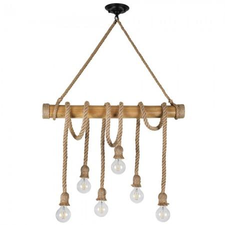Lámpara Colgante Fabrilamp Soga 6xE27 Cuerda