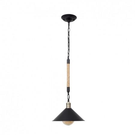 Lámpara Colgante Fabrilamp Soga 1xE27 Cuerda y Campana REGx30D