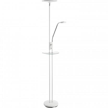 Lámpara de Pie LED MDC Duomo T con Puerto USB Blanco