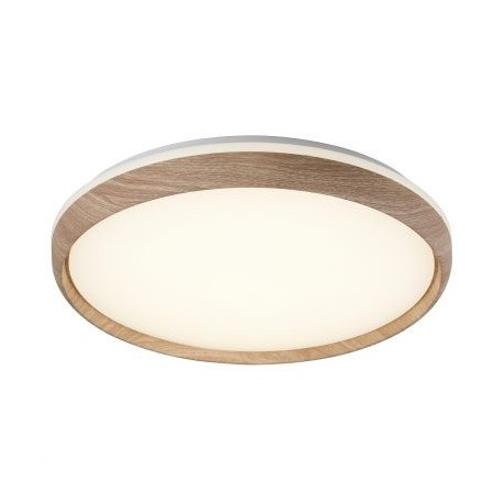 Plafón LED de Techo Wood Acrílico roble y blanco 75W Regulable