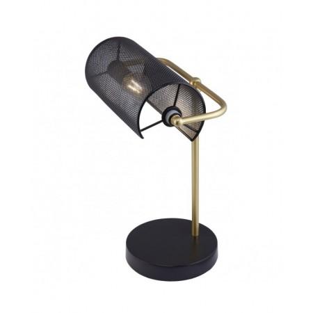 Lámpara Sobremesa Bufete Negro y Dorado E14