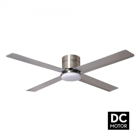 Ventilador de Techo Fabrilamp Kona Motor DC Níquel/Plata