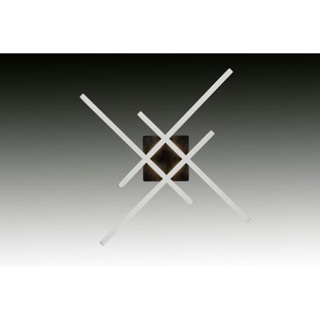Plafón de Techo LED Líneas Negro 37W 3500lm Regulable