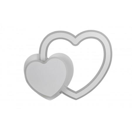 Plafón de Techo LED Corazón Blanco 80W 1000lm Regulable