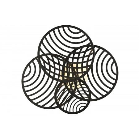Plafón de Techo LED Collage Mantra 4 módulos Negro 60W