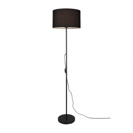 Lámpara de Pie Trio Tarkin Negro y pantalla Negra