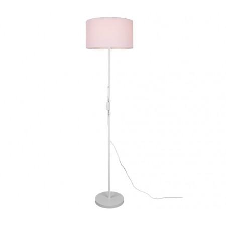 Lámpara de Pie Trio Tarkin Blanco y pantalla Blanca