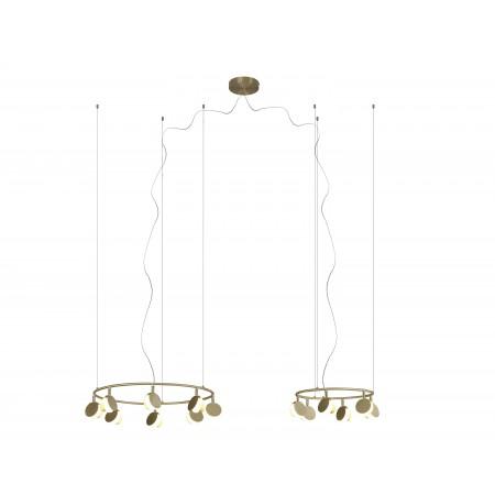 Lámpara Colgante LED Shell Mantra 8L+6L