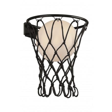 Aplique de Pared Basketball Mantra Negro E27