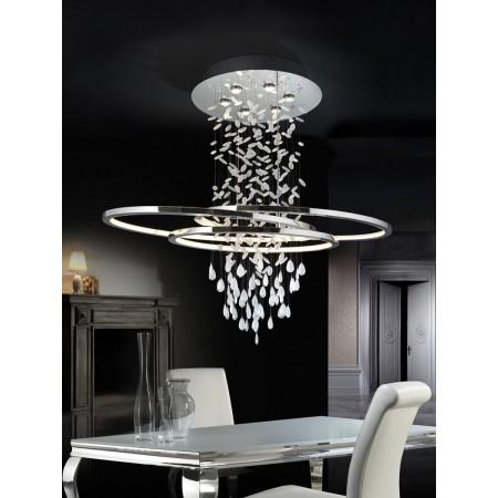 Lámpara Colgante LED Bruma Schuller Cromo