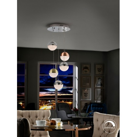 Lámpara Colgante LED Sphere Schuller 5 Luces