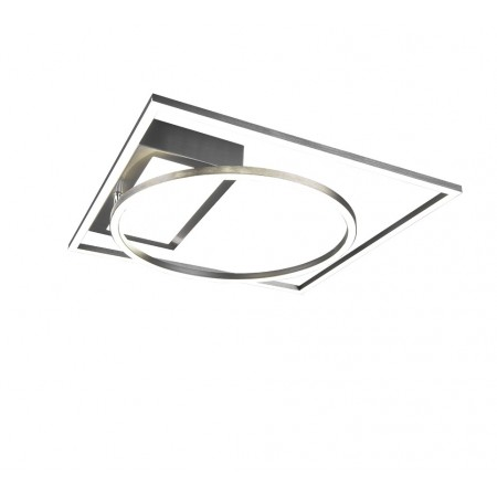 Plafón de Techo/Pared Led Trio Downey Níquel 33W CCT 4600lm